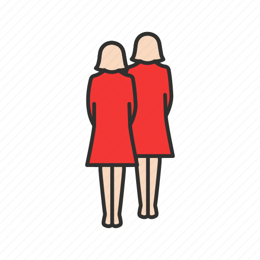 female, friends, ladies, users icon