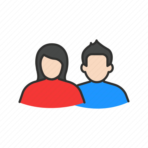 couple, female, male, partner icon