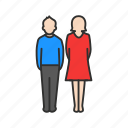 couple, female, male, partner icon