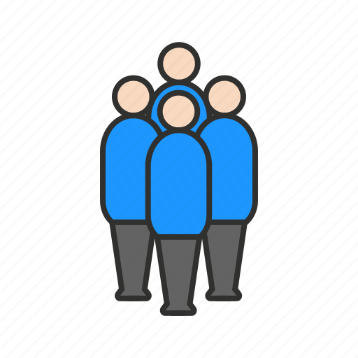 family, friends, group, network icon