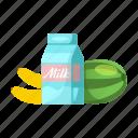 banana, gmo, milk, oud, product, watermelon