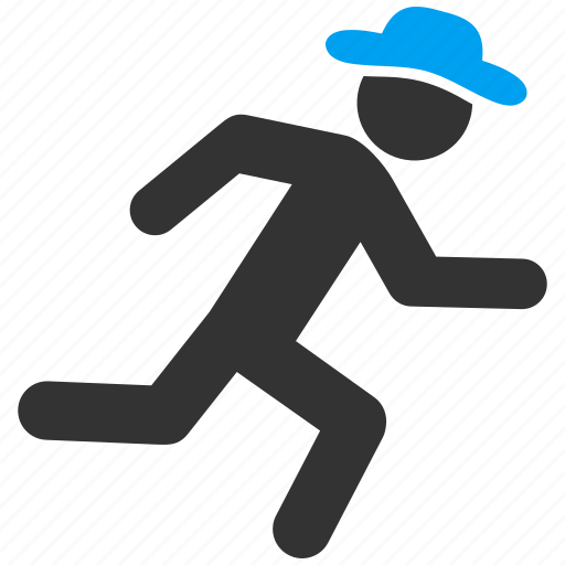 delivery, fast courier, gentleman, male figure, run, runner, running man icon