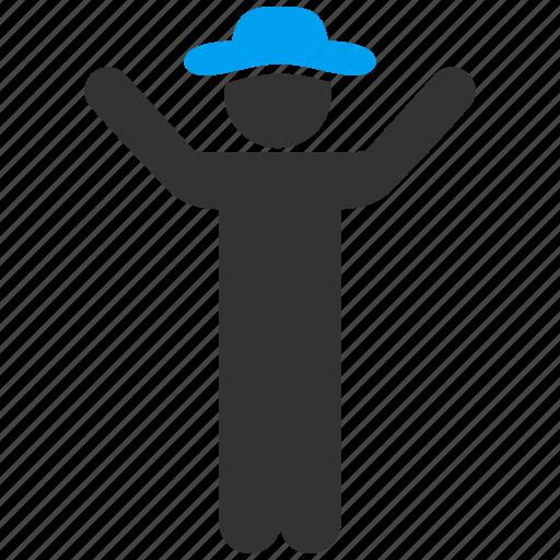 conductor, director, gentleman, hands up, kapellmeister, leader, man icon