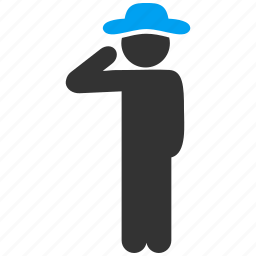 colonel, gentleman, hello, honor, policeman, salute, sergeant icon