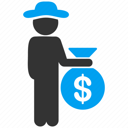 banker, client, gentleman, investor, male figure, robber, user account icon
