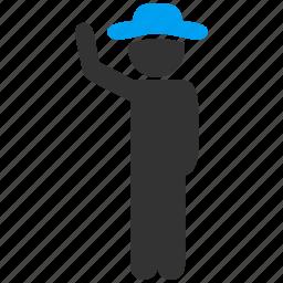 boy, customer, gentleman, hand up, hitchhike, male figure, man icon