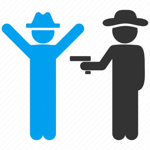 agent, arrest, crime, gentleman, people, police, robbery icon