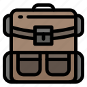 backpack, bag, hiking, luggage, travel icon