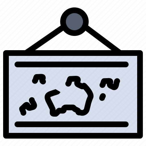 frame, hang, map, photo, picture icon