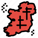 ireland, irish, location, map, point icon