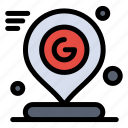 google, location, map, mark, pin icon