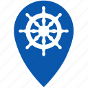 boat, geo, gps, location, sea, ship icon