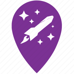 geo, gps, location, place, rocket, start icon