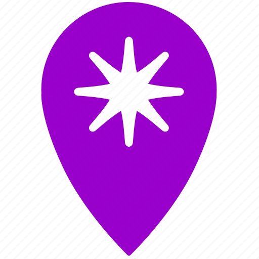 geo, gps, location, place, point, star icon