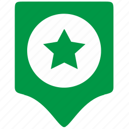 army, geo, green, location, point, star icon