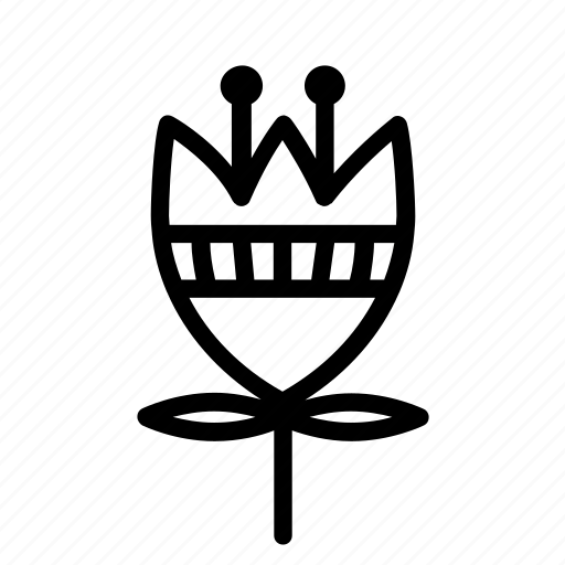 decoration, decorative, etno, flower, geometric, lineart, simple flower icon