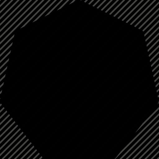 basic, geometrical, hectagon, shape icon