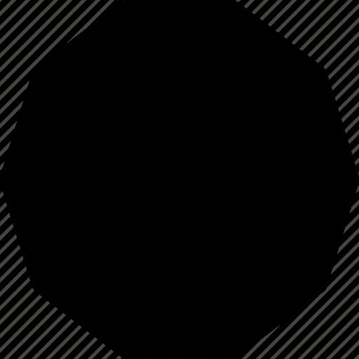 basic, decagon, geometrical, object, shape icon