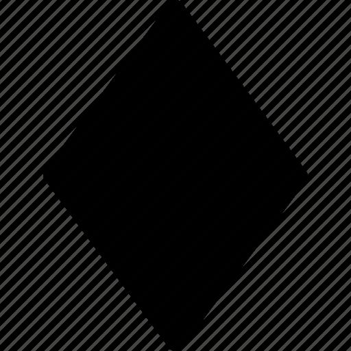 Basic Diamond: Basic, Crystal, Diamond, Geometrical, Shape Icon