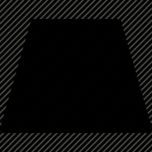 basic, geometrical, shape, trapezium, trapezoid icon