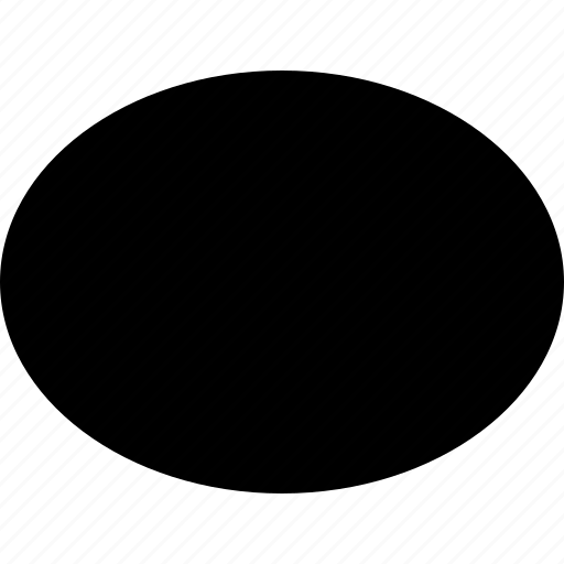 basic, eclipse, geometrical, oval, shape icon