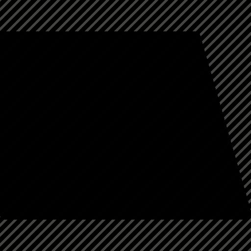 basic, geometrical, math, shape, trapezium, trapezoid icon