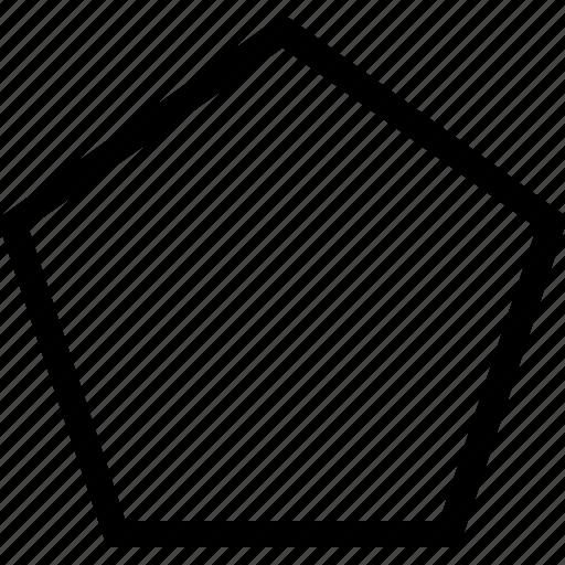 basic, geometrical, pentagon, shape icon
