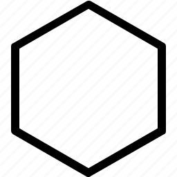 basic, geometrical, hexagon, shape icon