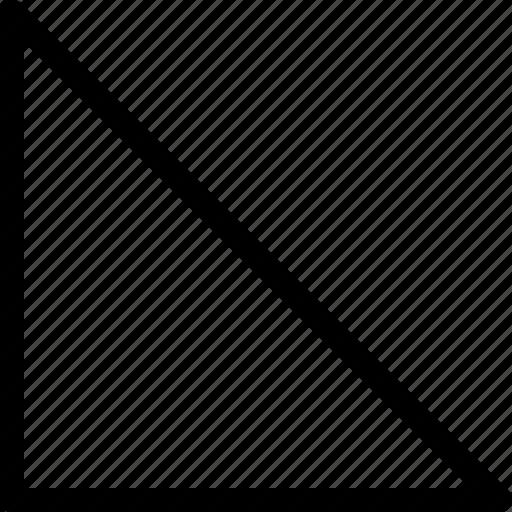 basic, geometrical, shape, triangle icon