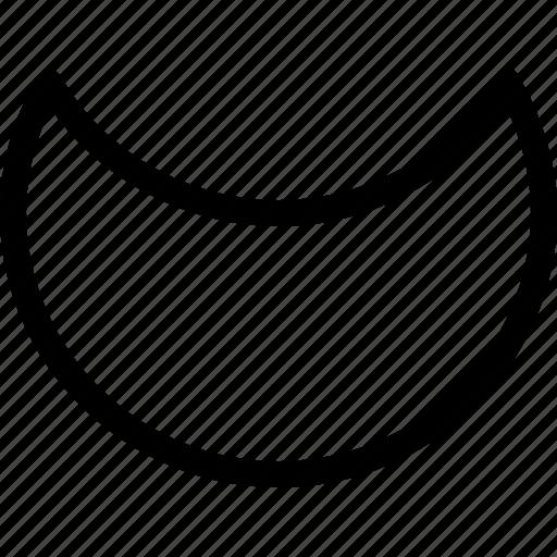 basic, crescent, geometrical, moon, shape icon
