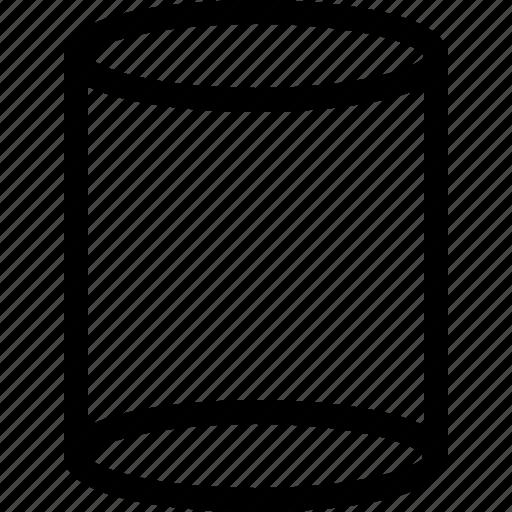 basic, geometrical, shape, tube, volume icon
