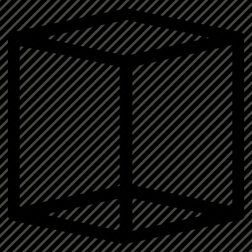 basic, cube, geometrical, shape, volume icon