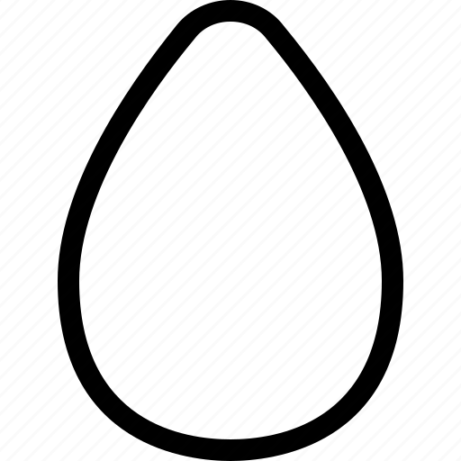 avocado, basic, geometrical, oval, pear, shape icon