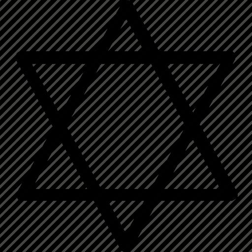 basic, geometrical, israel, jews, shape icon