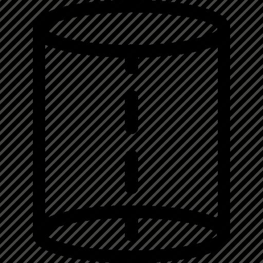 basic, geometrical, shape, stripe, tube, volume icon