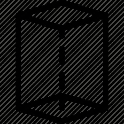 basic, cube, geometrical, shape, stripe, volume icon