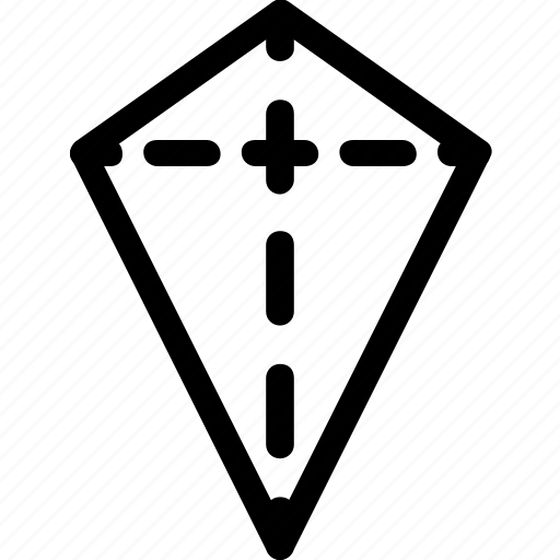 basic, geometrical, kite, shape, stripe icon