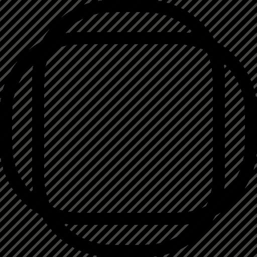 basic, combine, geometrical, rounded, shape icon