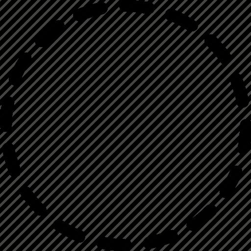 basic, circle, geometrical, round, shape, stripe icon