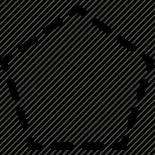 basic, geometrical, pentagon, shape, stripe icon