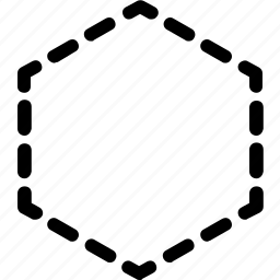 basic, geometrical, hexagon, shape, stripe icon