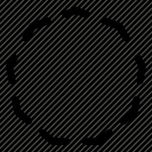 basic, geometrical, nonagon, shape, stripe icon