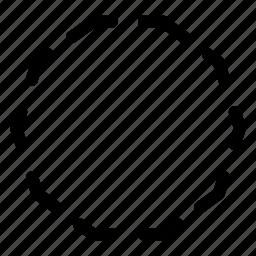 basic, decagon, geometrical, shape, stripe icon