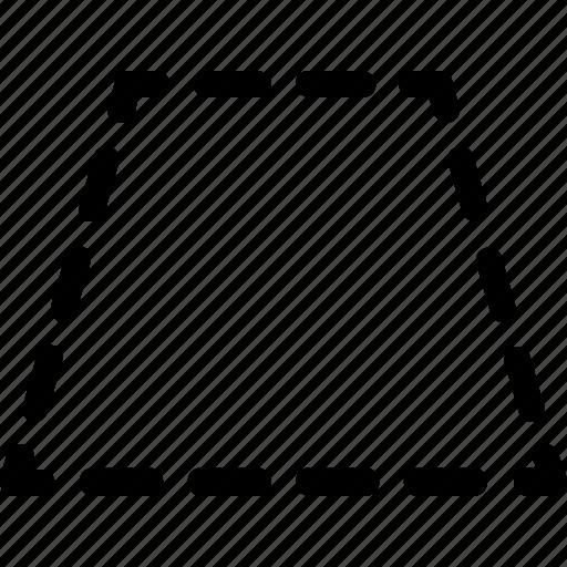 basic, geometrical, shape, stripe, trapezium, trapezoid icon