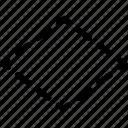basic, geometrical, rhombus, shape icon