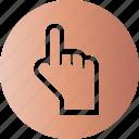 point, press, push, strait icon