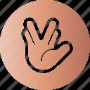 gesticulation, gesture, hand, palm icon