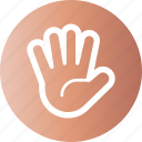 hand, palm, spread, wide icon
