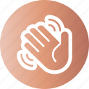 hi, salute, swing, wave icon