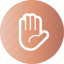 gesture, hand, handful, palm icon